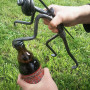 Minero de forja con barrena como abridor de botellas